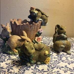 Other - Cute Easter planter with three fun furry friends.